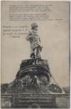 AK Vysokov Wysokow bei Náchod Schlachtfeld bei Königgrätz 1866 Feldjäger-Denkmal Tschechien Sondermarke 1910