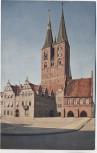 AK Farbfoto Stendal Rathaus und Marienkirche 1915