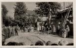 AK Foto Schwarzenbek in Schleswig-Holstein Richtfest Compe-Schule viele Menschen 1951 RAR