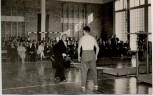 AK Foto Schwarzenbek in Schleswig-Holstein Richtfest Turnhalle Compe-Schule mit Clown 1959 RAR