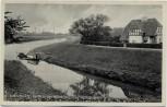 AK Nienburg Partie an der Weser mit Haus 1930