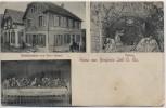 AK Gruss aus Bergholtzzell Restauration von Emil Brand bei Gebweiler Haut-Rhin Elsass Frankreich 1909