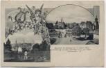 AK Mülhausen Mulhouse Erinnerung an das Musikfest Haut-Rhin Elsass Frankreich 1907 RAR