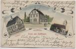 AK Gruss aus Hailfingen bei Tailfingen Schulhaus Kirche Schwesternhaus 1900 RAR