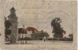 AK Gruss aus Neuenstadt an der Linde Partie am Stadtturm 1905