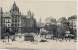 AK Dresden Postplatz mit Postamt und Straßenbahn 1910