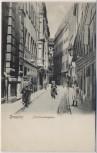 VERKAUFT !!!   AK Dresden Schuhmachergasse mit Menschen 1910 RAR