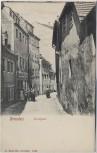 VERKAUFT !!!   AK Dresden Kanalgasse Korbwaren-Fabrik mit Menschen 1910 RAR