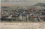 VERKAUFT !!!   AK Gruss aus Pössneck in Thüringen Ortsansicht 1902
