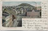 VERKAUFT !!!   AK Gruss aus Pössneck Bahnhofstrasse mit Post 1902