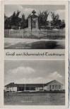 AK Gruß aus Scharrendorf Kriegerehrenmal Neue Schule bei Twistringen 1960