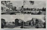 AK Mehrbild Gruß aus Hahn in Oldenburg Tonindustrie Schule Oldenburger Straße ... bei Rastede 1955