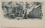 AK Dresden Gruss aus Palais Dresdensia Zinzendorf-Strasse Bürgerwiese 1910 RAR