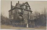 AK Foto Dresden Loschwitz Villa Haus viele Menschen Soldaten 1919 RAR