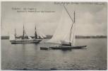 AK Potsdam Kgl. Fregatte mit Segelboot des Kronprinzen 1910 RAR