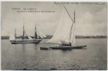VERKAUFT !!!   AK Potsdam Kgl. Fregatte mit Segelboot des Kronprinzen 1910 RAR