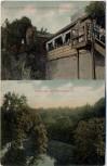 AK Gruss aus dem Starenkasten bei Berleburg in Westfalen mit Schlossgarten 1910 RAR