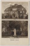 AK Schebitz Szewce bei Breslau Wrocław Schloß Kriegerdenkmal und Kirche Schlesien Polen 1932 RAR
