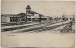 AK Saargemünd Sarreguemines Bahnhof Moselle Lothringen Frankreich 1910