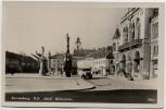 AK Foto Korneuburg Adolf Hitlerplatz mit Sparkasse und Bus Niederösterreich Österreich Feldpost 1941
