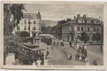 AK Horní Litvínov Ober Leutensdorf Waldstein Platz mit Straßenbahn viele Menschen Böhmen-Mähren Tschechien 1920 RAR