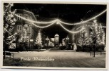 AK Foto Villingen Schwarzwald Frohe Weihnachten Bickenstrasse Bickentor Rhein-Main Bank 1950