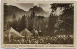 AK Mittenwald Hochlandlager des Banners Werdenfels am Lautersee 1937 RAR