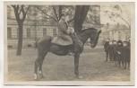 VERKAUFT !!!   AK Grünberg Schlesien Soldat auf Pferd mit Kinder auf Platz Zielona Góra Polen 1918