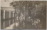 AK Foto Ilmenau in Thüringen Hochwasser Überschwemmung mit Menschen 1920 RAR