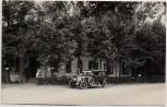 AK Foto Geltow Gasthof an der Mühle mit Auto Motorrad bei Schwielowsee 1920 RAR