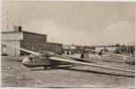AK Foto Schönhagen (Trebbin) Flugsportschule Aeroklub der DDR Segelflugzeug 1964