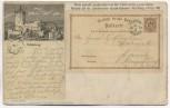 AK Älteste gedruckte Postkarte der Welt Rudelsburg Saaleck Bad Kösen Ausstellung Nizza 1899