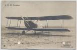 AK Foto A.E.G. Zweisitzer Flugzeug 1. WK 1915