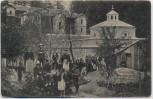 AK Belgrad Београд Beograd Menschen vor Kirche Serbien 1920