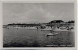 AK Ostseebad Prerow Strand mit Kurhaus Boot Menschen 1954