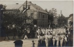 AK Foto Burgstädt Festumzug Gesangsverein Euterpe Straßenansicht 1910 RAR