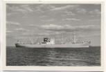 VERKAUFT !!!      AK Foto Schiff M.S. Hornfels Horn-Linie 1951