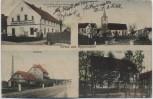 AK Mehrbild Gruss aus Oppersdorf Wierzbięcice Schule Molkerei Bäckerei ... bei Nysa Neisse Schlesien Polen 1918 RAR