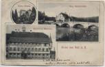 AK Gruss aus Sulz am Neckar Gasthof zum Waldhorn und Neue Neckarbrücke 1910