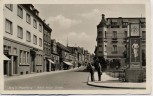 AK Foto Burg bei Magdeburg Adolf-Hitler-Straße Menschen Litfaßsäule 1940 RAR