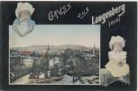 AK Gruss aus Langenberg (Rheinland) Ortsansicht mit Kinder 1906 RAR