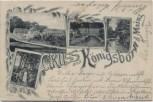 AK Gruss aus Königsborn bei Mainz Finthen Restauration 1899 RAR