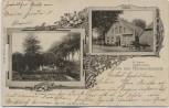 AK Gruss aus Harmenhausen M. Plate' s Gastwirtschaft Garten bei Berne Elsfleth 1904 RAR