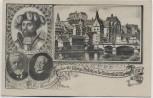 AK Marburg Zur Erinnerung an das 400 jährige Bestehen der Universität Studentika 1927 RAR