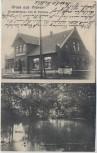 AK Gruss aus Wieren Geschäftshaus von H. Früchte Mühle Wrestedt 1907 RAR