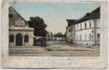 AK Plattling im Gäuboden Landauer Strasse mit Bier Halle 1902 RAR