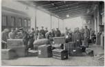 AK Goch Bahnhof Gepäckrevision Soldaten Stempel Grenzüberwachungsstelle Bahnpost 1915 RAR