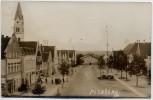 AK Foto Pilsting Markt mit Cafe Niederbayern 1935 RAR