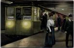 AK Berlin Untergrundbahnhof Leipziger Platz mit Menschen 1910 RAR
