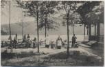 AK Böhmerwald Šumava Schwarzer See mit Restauration bei Markt Eisenstein Železná Ruda Böhmen Tschechien 1909 RAR